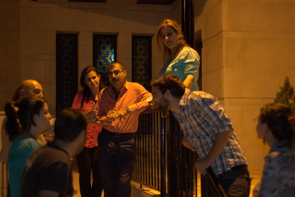 Im Gespräch mit den Irakis, die in St. Charbel untergekommen waren